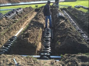 Install Replacement Septic Field With Infiltrator System
